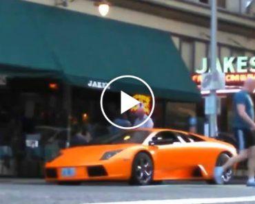 Jovem Passa Com Bicicleta Por Cima De Lamborghini 2