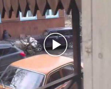 Mãe Utiliza Carrinho De Bebé Com Bebé No Interior Para Destruir Carro 3