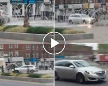 Condutor Perseguido Pela Policia Depois De Lavar Carro Em Fonte Pública 3
