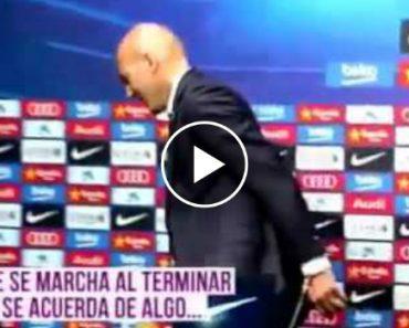 """Zidane Quis Deixar Um """"Presente"""" Na Sala De Imprensa Do Barça 5"""