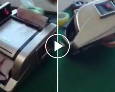 Esta Máquina De Contar Notas Parece Igual Às Outras, Mas Ela Faz Sumir o Dinheiro Como Por Magia! 6