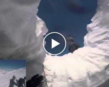 Esquiador Filma Queda Assustadora Numa Fenda Com Dezenas De Metros 3