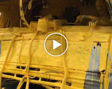Motorista e Veículo Pesado Ficam Pintados De Amarelo Após Acidente 7