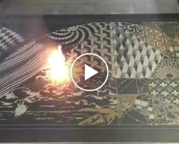 Sistema De Laser Transforma Tela Em Branco Numa Verdadeira Obra De Arte 6