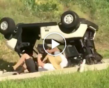 Eles Até Podem Ser Muito Bons Jogadores De Golfe, Mas São Péssimos Condutores! 2