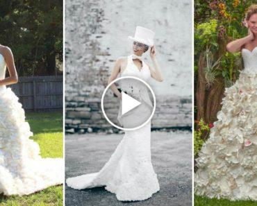 Vestidos De Noiva Impressionantes Totalmente Feitos Em… Papel Higiénico! 3