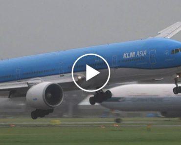 Vento Forte Obriga Avião a Fazer Aterragem Complicada 1
