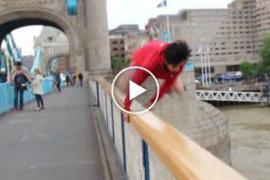 Jovem Salta Da Tower Bridge Em Londres Após Ser Desafiado No Twitter e... Dá-se Muito Mal 10