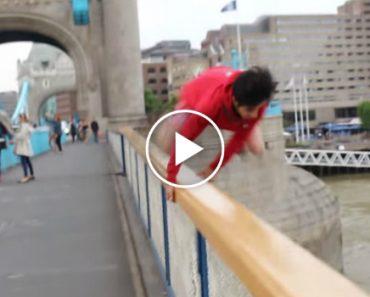 Jovem Salta Da Tower Bridge Em Londres Após Ser Desafiado No Twitter e... Dá-se Muito Mal 9
