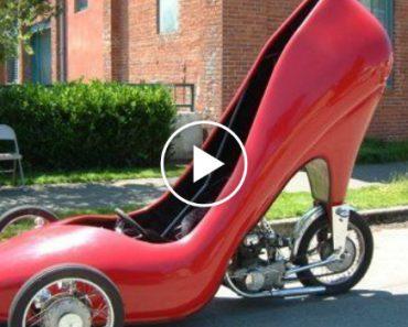 Carro Em Formato De Sapato De Salto Alto?! O Carro De Sonho Das Mulheres 8