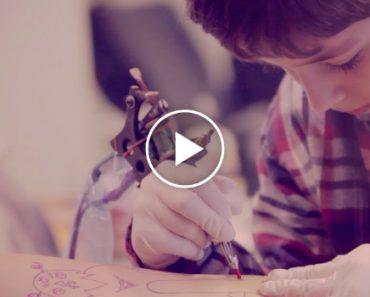 Menino De 6 Anos Tatua o Pai Com Desenho Da Sua Autoria 2