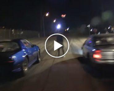 Corrida De Carros De Rua Termina Com Despiste Impressionante 3