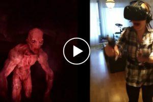 Mulher Fica Em Pânico Ao Experimentar Pela 1ª Vez Jogo De Zombies Em Realidade Virtual 9
