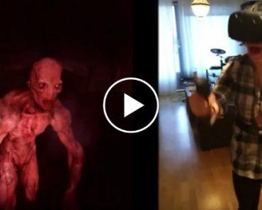 Mulher Fica Em Pânico Ao Experimentar Pela 1ª Vez Jogo De Zombies Em Realidade Virtual 3