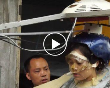Homem Inventa Inovadora Máquina De Lavar Cabelo 6