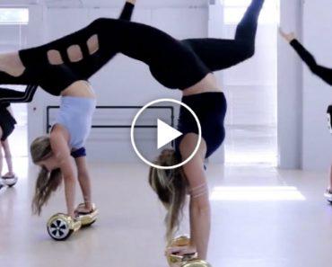 """Grupo Feminino Faz Incrível Dança Acrobática Ao Som De """"Sorry"""" Usando Hoverboards 6"""