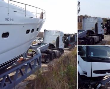 3 Camiões Não Foram Suficientes Para Retirar Barco Da Água 5