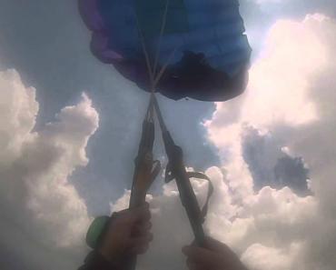 Cabos De Paraquedas Enrolam-se e Salto Quase Acaba Em Tragédia 1