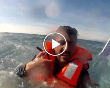 Imagens Impressionantes De Resgate De Jovem Agarrado à Ponta De Um Barco Afundado 2