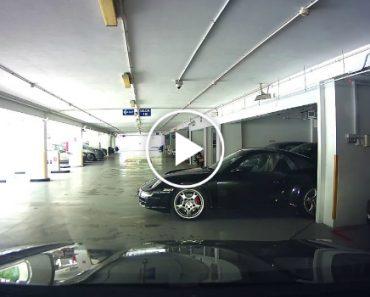 Condutor De Porsche Carrera Tem Acidente Insólito Ao Sair De Parque De Estacionamento 3