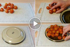Como Cortar Vários Tomates Em Apenas 3 Segundos... Não Falha! 10