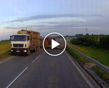 Camião Perde Carga e Quase Atinge Carro Que Vinha Em Sentido Contrário 1