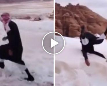 Árabe Tem Reação Inesperada Ao Ver Neve Pela Primeira Vez 4