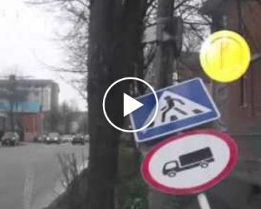 Homem Tenta Fugir De Acidente e Leva Com Sinal De Trânsito Na Cabeça 3