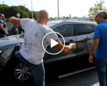 Grupo De Taxistas Vandaliza Carro Da Uber Durante Manifestação 1