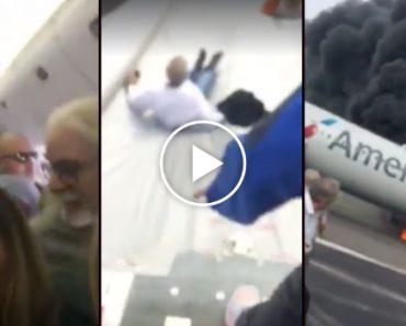 Passageiro Filma Aterrorizador Momento Em Que é Evacuado De Avião Em Chamas 1