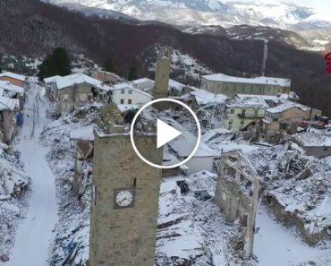 Imagens Captadas Por Drone Mostram o Estado Devastador Que Se Encontra Itália Meses Depois Do Terramoto 1