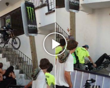 Ciclista De Downhill Sofre Grave Acidente Ao Chocar Contra Varanda De Uma Habitação 2