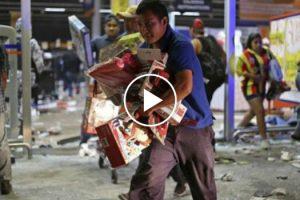 Imagens Impressionantes Da Pilhagem de Uma Grande Superfície No México 10