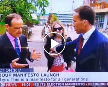 Apresentador Da BBC Agarra Acidentalmente Peito De Mulher Em Direto 1