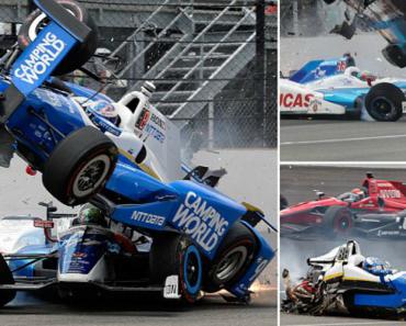 Impressionante Acidente Em Que Carro De Indy 500 é Projetado e Fica Dividido Em Dois 1