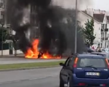 BMW Devorado Pelas Chamas Num Incêndio Em Viseu 1