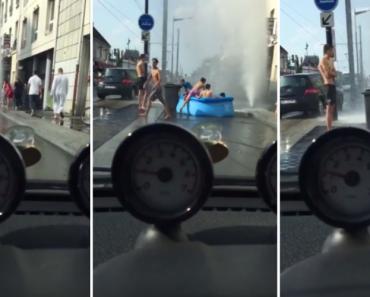 Jovens Bloqueiam Estrada Com Piscina e Ainda Usam a Água De Uma Boca-De-Incêndio 7