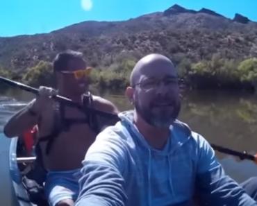 """Passeio De Canoa Termina Com Anzol No """"Peixe"""" Errado 4"""