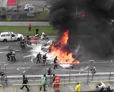 Corrida Termina Com Grave Incêndio De Lamborghini Gallardo 6