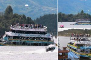 Dramático Momento Em Que Barco Naufraga Na Colômbia Com 150 Turistas a Bordo 8