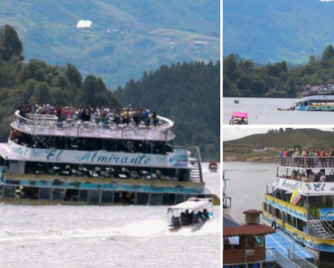 Dramático Momento Em Que Barco Naufraga Na Colômbia Com 150 Turistas a Bordo 6