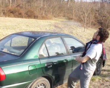 Idiota Tenta Partir Vidro Do Carro Com a Cabeça 1