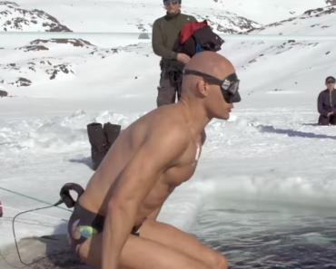 Homem Consegue Nadar 76 Metros Dentro De Lago Congelado 7