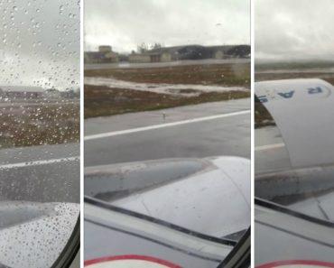 Passageiros Ficam Em Pânico Ao Verem Revestimento De Turbina De Avião Soltar-se Durante a Decolagem 6