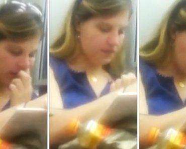 Jovem Aproveita Viagem De Metro Para Ler Livro, Fazer Limpeza Ao Nariz e Olhos e Ainda Se Alimentar 8