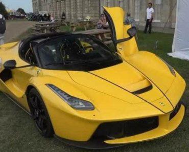 Ferrari LaFerrari Aperta Dá Espetáculo Até Em... Concurso De Elegância 1