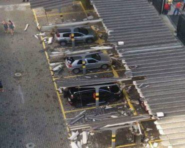 Parque De Estacionamento Fica Destruído Após Idoso Tentar Retirar Carro Do Vizinho 5