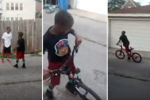 Miúdo Realiza Fuga Perfeita De Bicicleta Após Discussão Com Criança Maior Que Ele 10