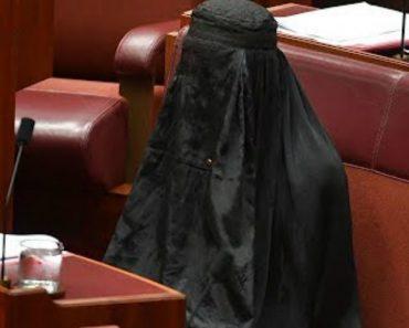 Líder De Extrema-Direita Australiana Entra No Senado Com Burca Vestida 6