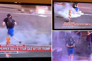 Manifestante Arrepende-se Amargamente Após Lançar Gás Lacrimogéneo Sobre a Polícia 9